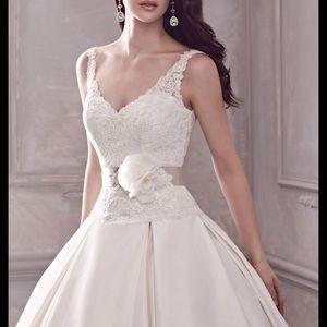 Paloma Blanca Silk Ball Gown 4400